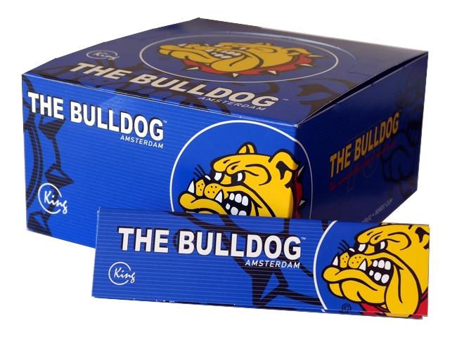 Κουτί με 50 χαρτάκια στριφτού THE BULLDOG KING SIZE BLUE Hemp