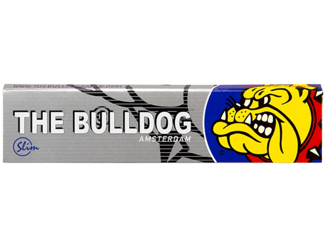 Χαρτάκια στριφτού THE BULLDOG KING SIZE SILVER Slim Hemp