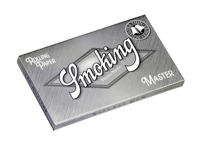 3118 - Χαρτάκια στριφτού Smoking Master Ασημί διπλά με 120 φύλλα