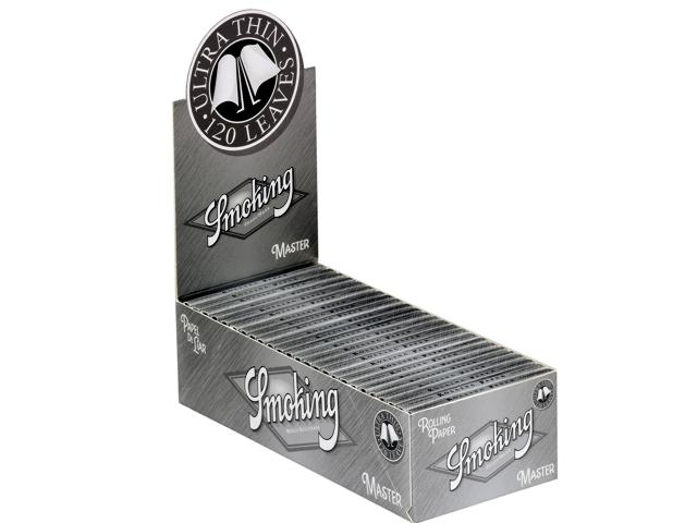 3119 - Κουτί με 25 Χαρτάκια στριφτού Smoking Master Ασημί διπλά με 120 φύλλα