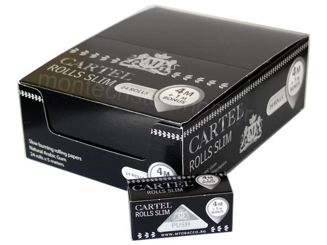 3187 - Κουτί με 24 Cartel Rolls Slim 5 μέτρα