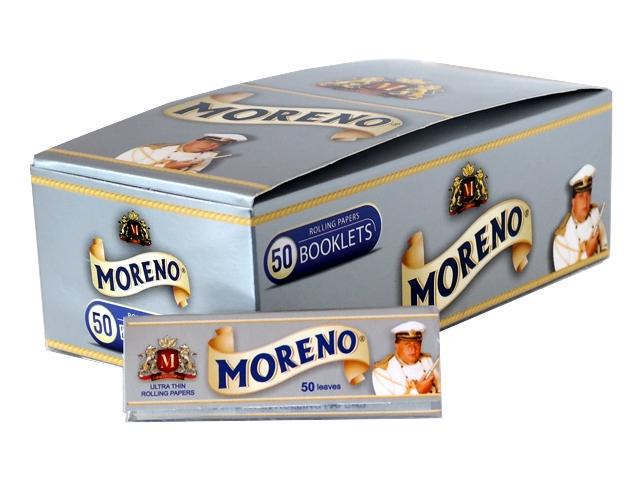 Κουτί με 50 χαρτάκια στιφτού MORENO Silver (ασημί)