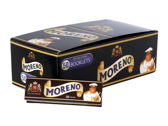 3195 - Κουτί με 50 χαρτάκια στιφτού MORENO Black (μαύρο)