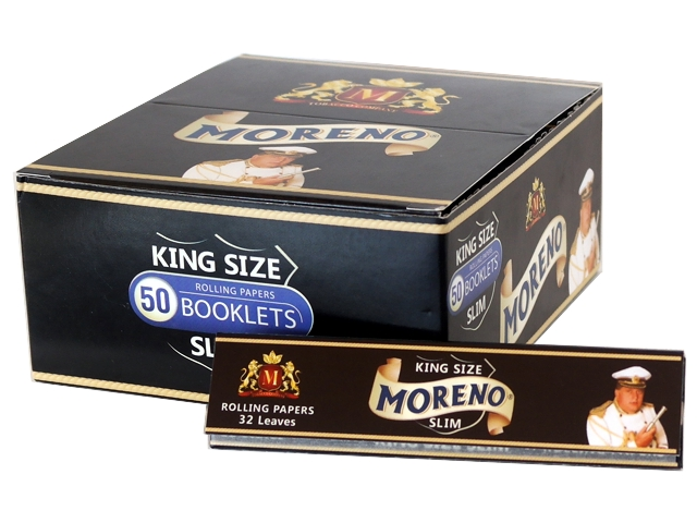 ����� �� 50 �������� ������� MORENO Black KING SIZE SLIM