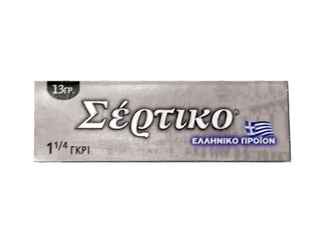 3240 - Χαρτάκια στριφτού ΣΕΡΤΙΚΟ ΓΚΡΙ 1 και 1/4 13γρ (μεσαίο)