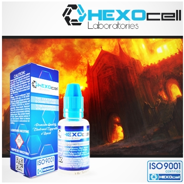 HEXOCELL FALLEN EMPIRE 30ml (φυστίκι - turkish tobacco - κεράσι σοκολάτα)