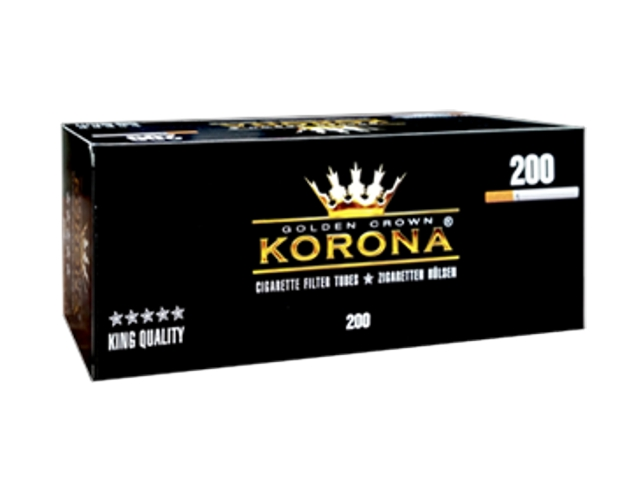 3303 - Άδεια τσιγάρα KORONA GOLDEN CROWN KING SIZE 200
