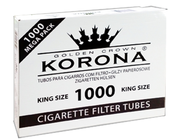 3305 - Άδεια τσιγάρα KORONA GOLDEN CROWN KING SIZE 1000