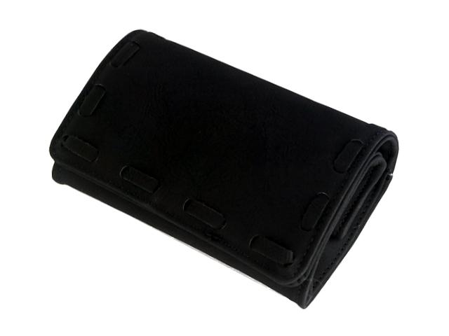 Καπνοθήκη ΔΙΕΘΝΕΣ μαύρη μεσαία πουγκί 44409-21