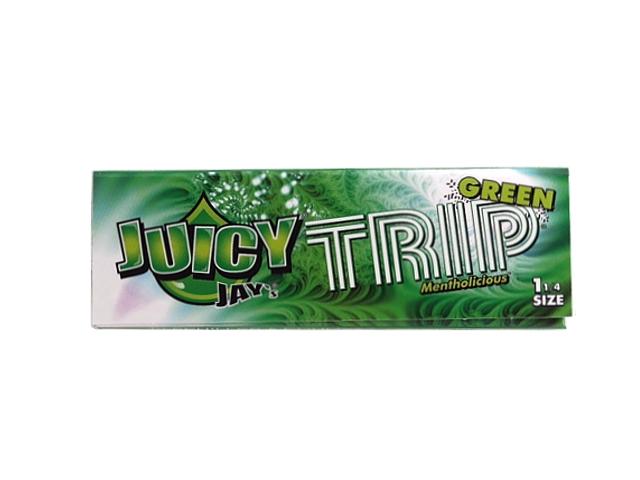 3449 - Χαρτάκια στριφτού Juicy Jays Trip Green Mentholisious ΜΕΝΤΑ 1 1/4
