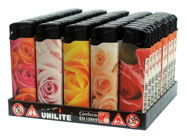 3531 - Κουτί με 50 αρωματικούς αναπτήρες UNILITE ROMANTIC ROSES 11849-01 (με άρωμα τριαντάφυλλο)