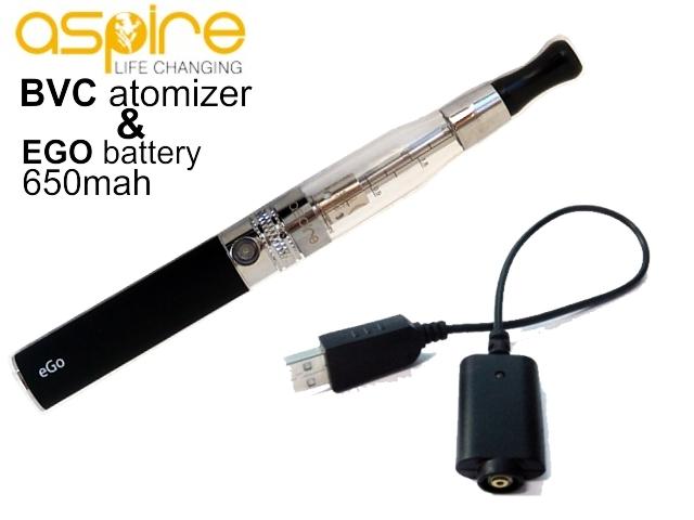 3536 - Ηλεκτρονικό τσιγάρο με Aspire C5 BVC, EGO 650mah μαύρη μπαταρία και φορτιστή USB