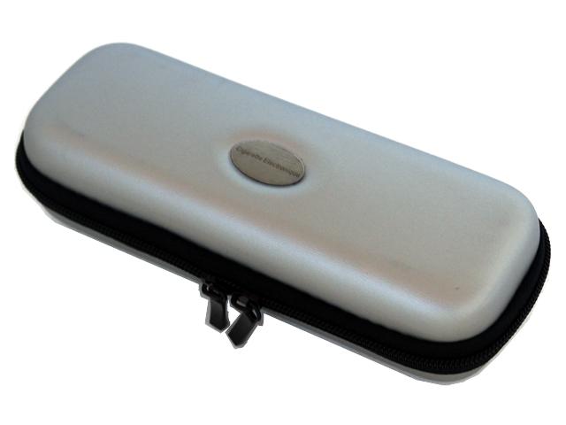 Θήκη με φερμουάρ για ηλεκτρονικό τσιγάρο χρώμα ασημί