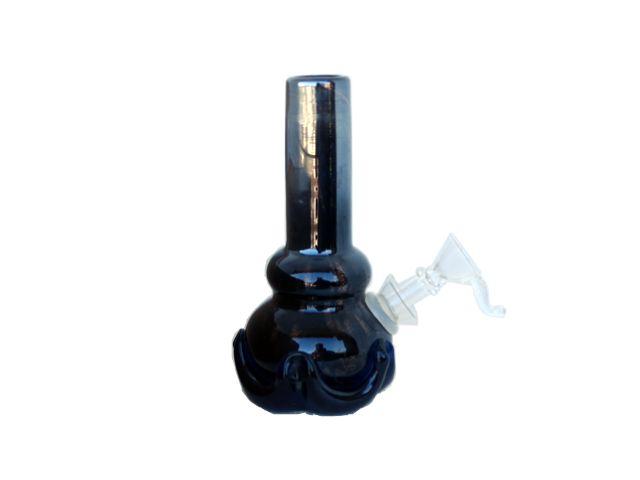 Γυάλινο μπονγκ από φυσητό γυαλί 12156 μαύρο 13.5cm