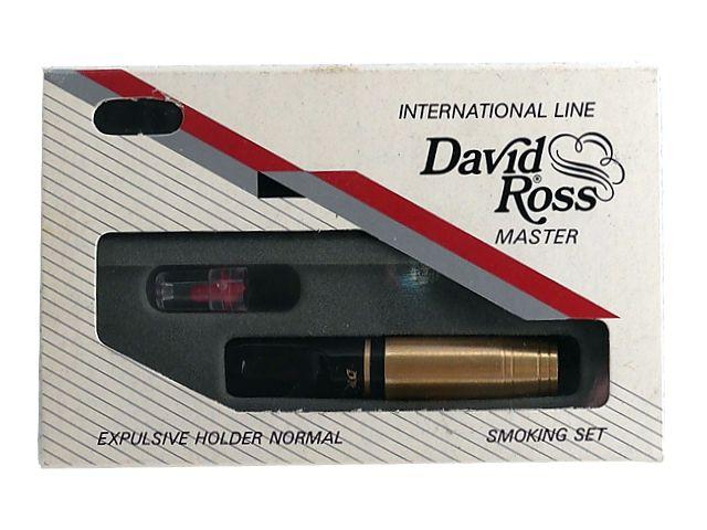 3655 - Πίπα για κανονικό τσιγάρο David Ross Mini χρυσή