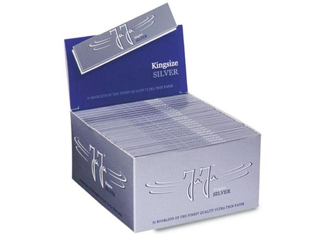 3676 - Κουτί με 50 χαρτάκια στριφτού Jaja SILVER King Size ασημί