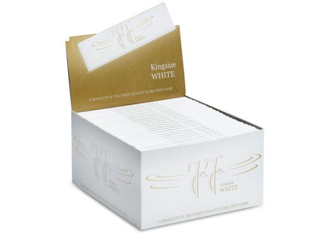3678 - Κουτί με 50 χαρτάκια στριφτού Jaja WHITE King Size άσπρα