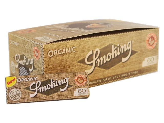 Κουτί με 50 χαρτάκια στριφτού Smoking ORGANIC 60 φύλλα