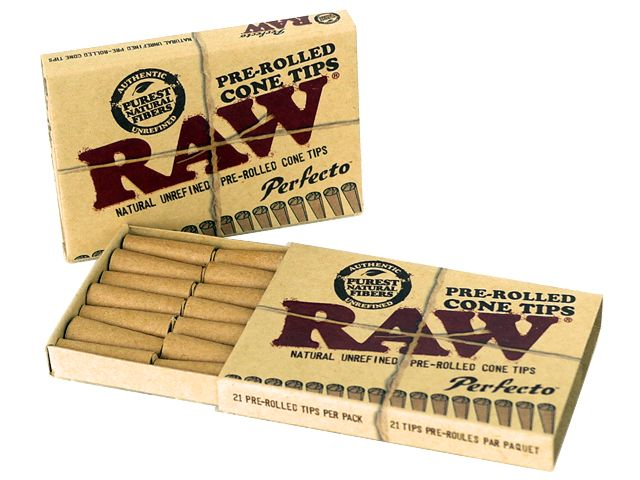 ������������ ������ ������� Raw Pre-rolled Cone Tips �� 21 ��������