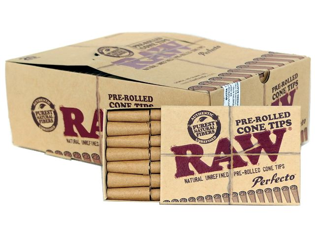 3748 - ����� �� 20 ������������� ������� �������� Raw Pre-rolled Cone Tips �� 21 ��������