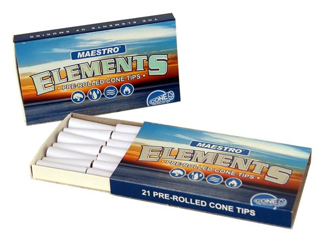 3749 - �������� ������������� ������� ELEMENTS MAESTRO PREROLLED CONE TIPS �� 21 �������