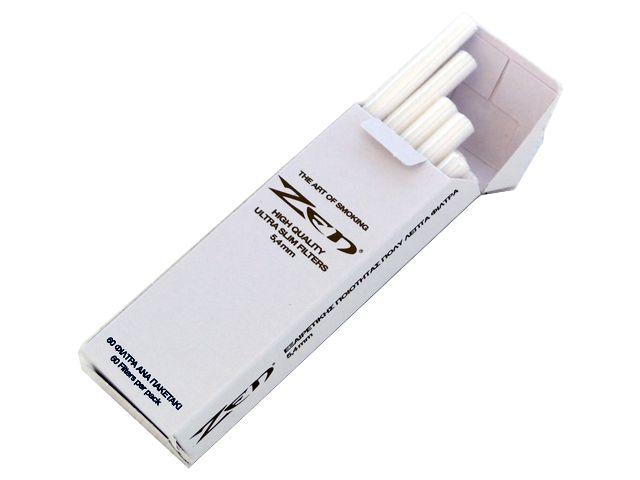 3814 - Φιλτράκια στριφτού ZEN extra slim 5.4 (πακέτο με 60 λευκά φίλτρα)