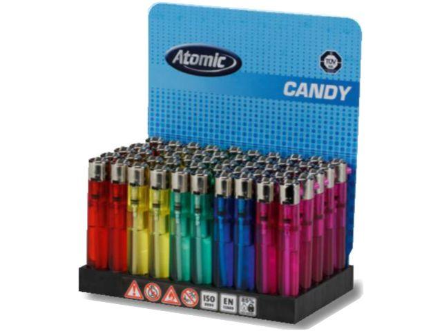 50 αναπτήρες πέτρας Atomic Candy (σε διάφορα χρώματα)