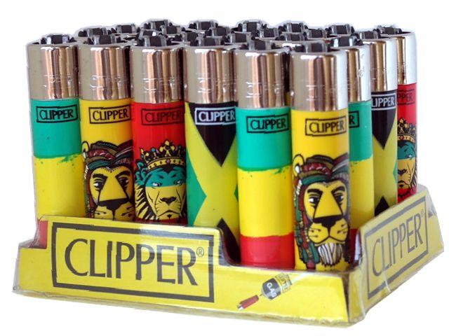 Κουτί με 24 αναπτήρες Clipper CP11 LARGE HIPPIE 5 REGGAE