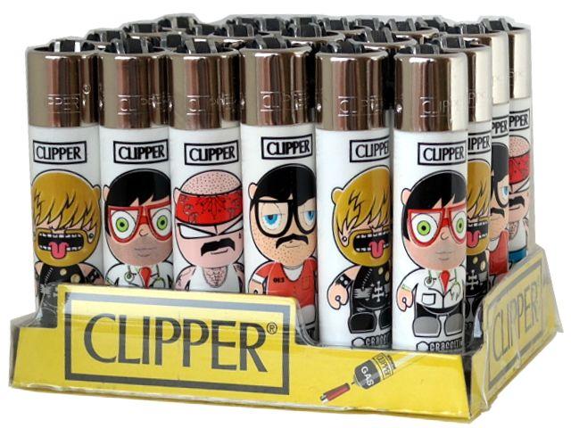 Κουτί με 24 αναπτήρες Clipper CP11 LARGE EMOTICONS 23