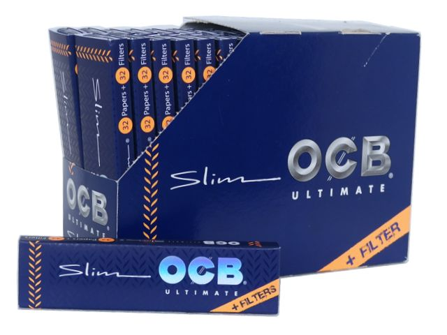 ����� �� 32 �������� �������� OCB ULTIMATE SLIM King Size + TIPS �� ��������
