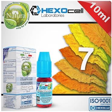 Υγρό αναπλήρωσης Natura 7 Foglie από την Hexocell (καπνικό ήπιο) 10ml