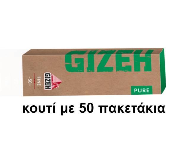 4011 - Κουτί με 50 χαρτάκια στριφτού GIZEH PURE Fine 50