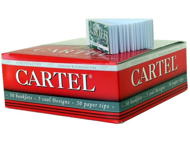 4166 - Κουτί με 50 τζιβάνες CARTEL 50 διάτρητες φαρδιές