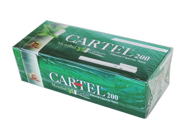 Άδεια τσιγάρα Cartel Menthol Carbon 200 (μέντα ενεργού άνθρακα)
