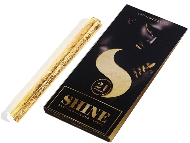 4187 - Χαρτάκι στριφτού Shine 24K Gold KING SIZE 1-sheet Pack