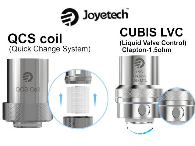 Ανταλλακτικές κεφαλές Joyetech CUBIS LVC Clapton 1.5ohm ρυθμιζόμενες και QCS επισκευάσιμες (5 coils)