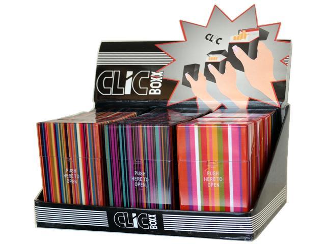 Κουτί με 12 πλαστικές θήκες CLIC BOXX ΡΙΓΕ για πακέτο 20 τσιγάρων 380320 (ανοίγει αυτόματα)