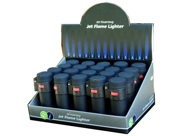 Κουτί με 20 αναπτήρες φλόγιστρο αντιανεμικός μαύρος TOM 10294-01 βαρελάκι