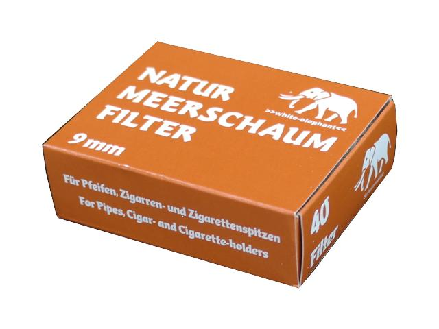 Φίλτρο Πίπας MEERSCHAUM NATUR Elephant 9mm 40 τεμάχια