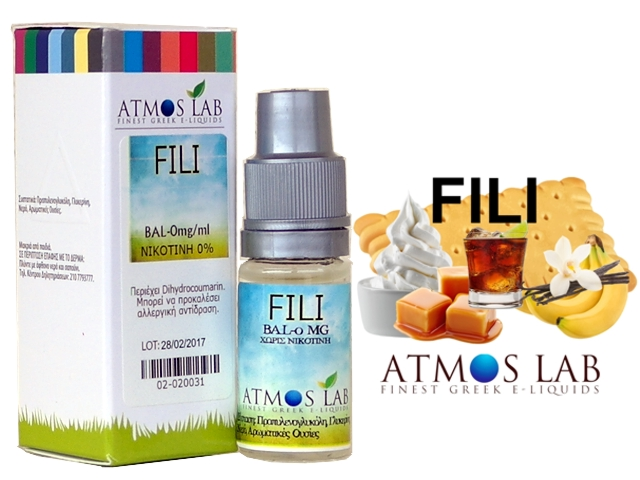 4282 - Atmos Lab FILI (μπανάνα, μπισκότο, καραμέλα, ρούμι, μαύρη ζάχαρη, βανίλια) 10ml