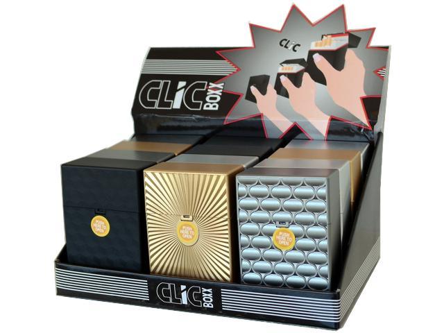 Κουτί με 12 πλαστικές θήκες CLIC BOXX ANAGLIFA για πακέτο 20 τσιγάρων 380170 (ανοίγει αυτόματα)