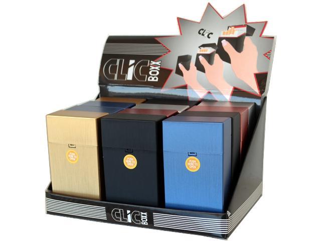 Κουτί με 12 πλαστικές θήκες CLIC BOXX 100s EKATOSTARI για πακέτο 20 τσιγάρων 380140 (ανοίγει αυτόματα)