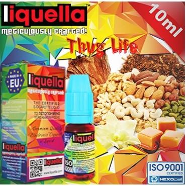 4375 - Υγρό αναπλήρωσης LIQUELLA THUG LIFE TOBACCO 30ml (καπνικό με ξηρούς καρπούς βανίλια καραμέλα)