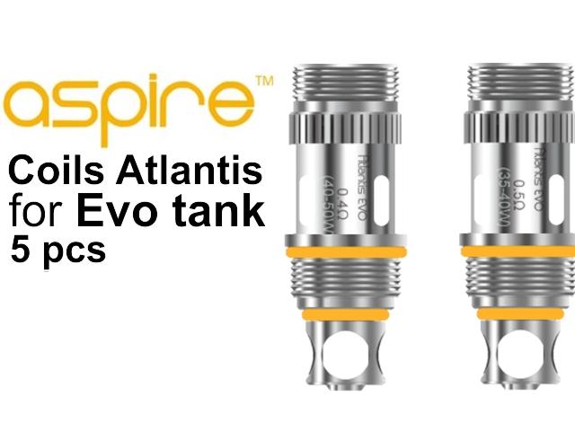 Ανταλλακτικές κεφαλές Atlantis Evo tank (5 τεμάχια)