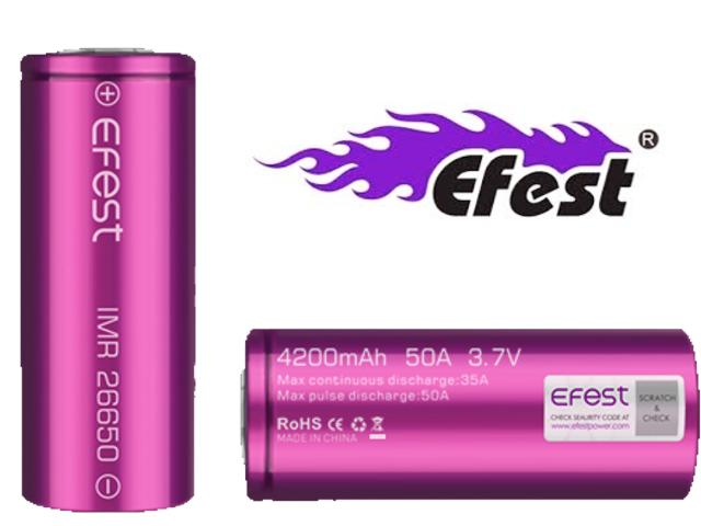 Efest IMR 26650 4200mAh 50A flat top battery (�� ������� �������������� scratch and check)