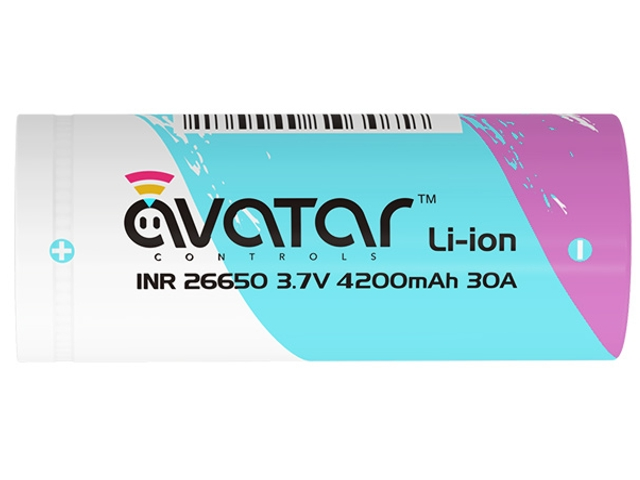 Avatar INR 26650 Battery (30A / 4200mah)