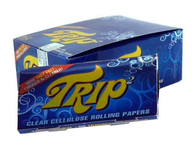 Κουτί με 24 Χαρτάκια στριφτού Trip2 King Size διάφανα
