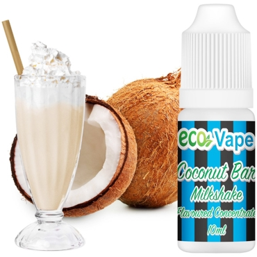 Άρωμα Eco Vape Coconut Bar Milkshake 10ml (καρύδα & milkshake)