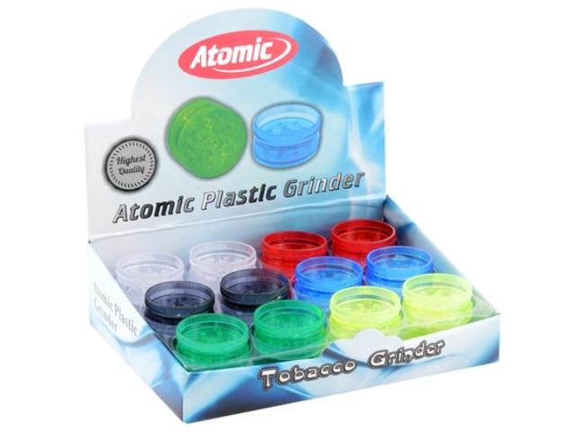 Κουτί με 24 τρίφτες καπνού Atomic 3.0cm πλαστικός απλός 0212406