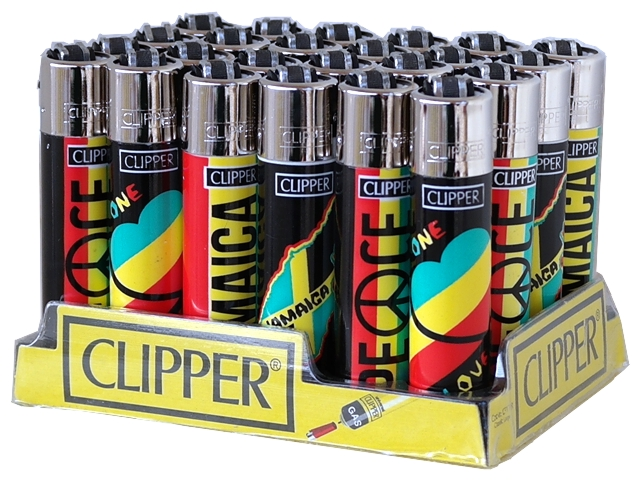Κουτί με 24 αναπτήρες Clipper JAMAICA LOVE PEACE CP11 LARGE